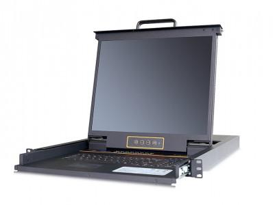 秦安-KinAn LC1916 19″16口CAT5 LED KVM控制平台