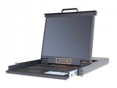 秦安-KinAn LC1924 19″24口CAT5 LED KVM控制平台