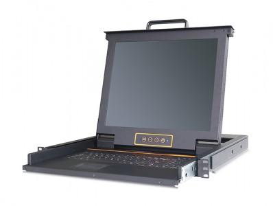 秦安-KinAn KVM-17CZ 17″64口菊链式LED KVM控制平台
