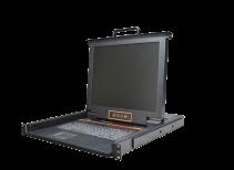 秦安-KinAn XL1704 17寸4口LED KVM控制平台