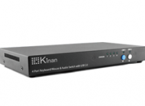 秦安-KM-0104 4-端口 KM滑屏器,支持 USB 2.0共享