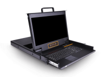 LD1701:单口17.3寸高清DVI KVM控制台