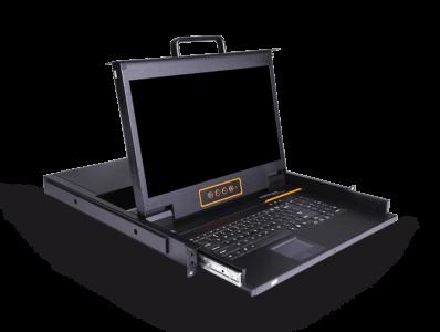 LD1716:16口17.3寸LCD高清DVI KVM控制台