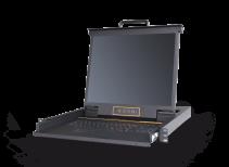 LD1901:单口19寸高清DVI KVM控制台_三合一kvm液晶套件