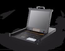HT1708:17寸屏幕高清矩阵式双通道 IP KVM控制台