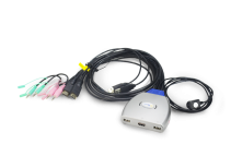 HD2302:线控USB音视频KVM 2口HDMI KVM切换器