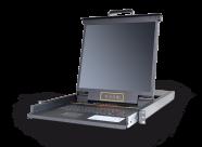 HT1908:矩阵式双通道8口高清19寸屏幕 IP KVM控制台