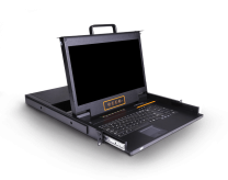HT2708:双通道矩阵式8口17.3寸高清 IP KVM控制台