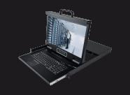 HT2808:双通道矩阵式8口18.5寸高清 IP KVM控制台