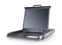 LD1908:8口19寸LED高清DVI KVM控制台_四合一kvm液晶套件