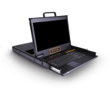 HT2716:双通道矩阵式16口17.3寸高清 IP KVM控制台