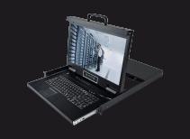 HT2816:双通道矩阵式16口18.5寸高清 IP KVM控制台