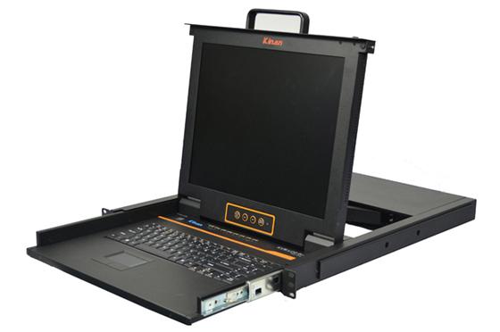 秦安-KinAn XL1708 17寸8口LED KVM切换器控制平台